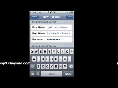 IPhone Work Email Set-up
