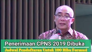 Download Video Penerimaan CPNS 2019 Dibuka, Syarat dan Jadwal Pendaftaran Untuk 100 Ribu Formasi MP3 3GP MP4