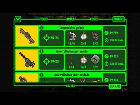 Planos De Algunas Armas Y Atuendos - Fallout Shelter