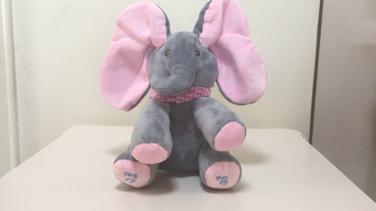 Peek A Boo Elephant Dog Stuffed Animal Plush Toy Play Music Elephant