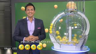 $70M Oz Lotto Results Draw 1322 | Tuesday, 18 June 2019 | the Lott