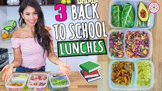 3 BACK TO SCHOOL VEGAN LUNCHES!