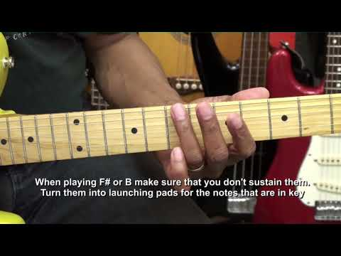 How To Play An ALMOST PENTATONIC Guitar Solo On Guitar - EricBlackmonGuitar