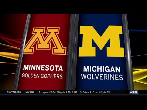 Minnesota at Michigan - Football Highlights