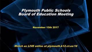 BOE Meeting November 15th 2017