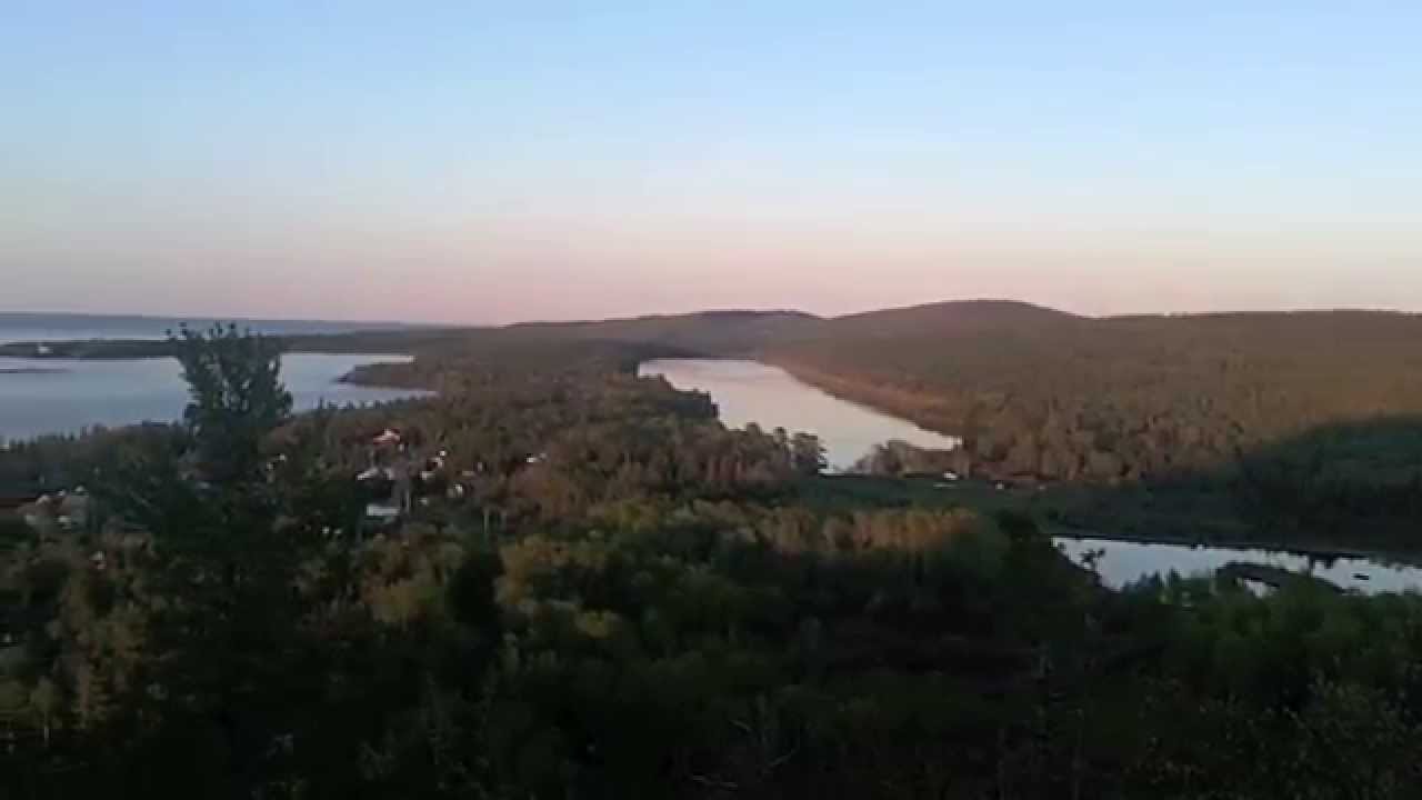 Mountain biking and camping in Copper Harbor - YouTube