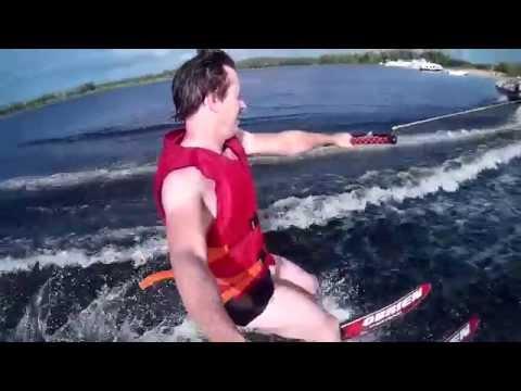 Катания на водных лыжах - от первого лица