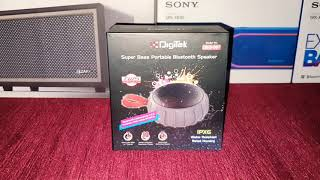 Review of Digitek IPX6 DBS-007 Bluetooth speaker. Same as Sound One Shell.