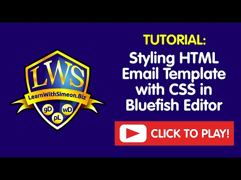 Styling HTML Email Template With CSS In Bluefish Editor | LearnWithSimeon®
