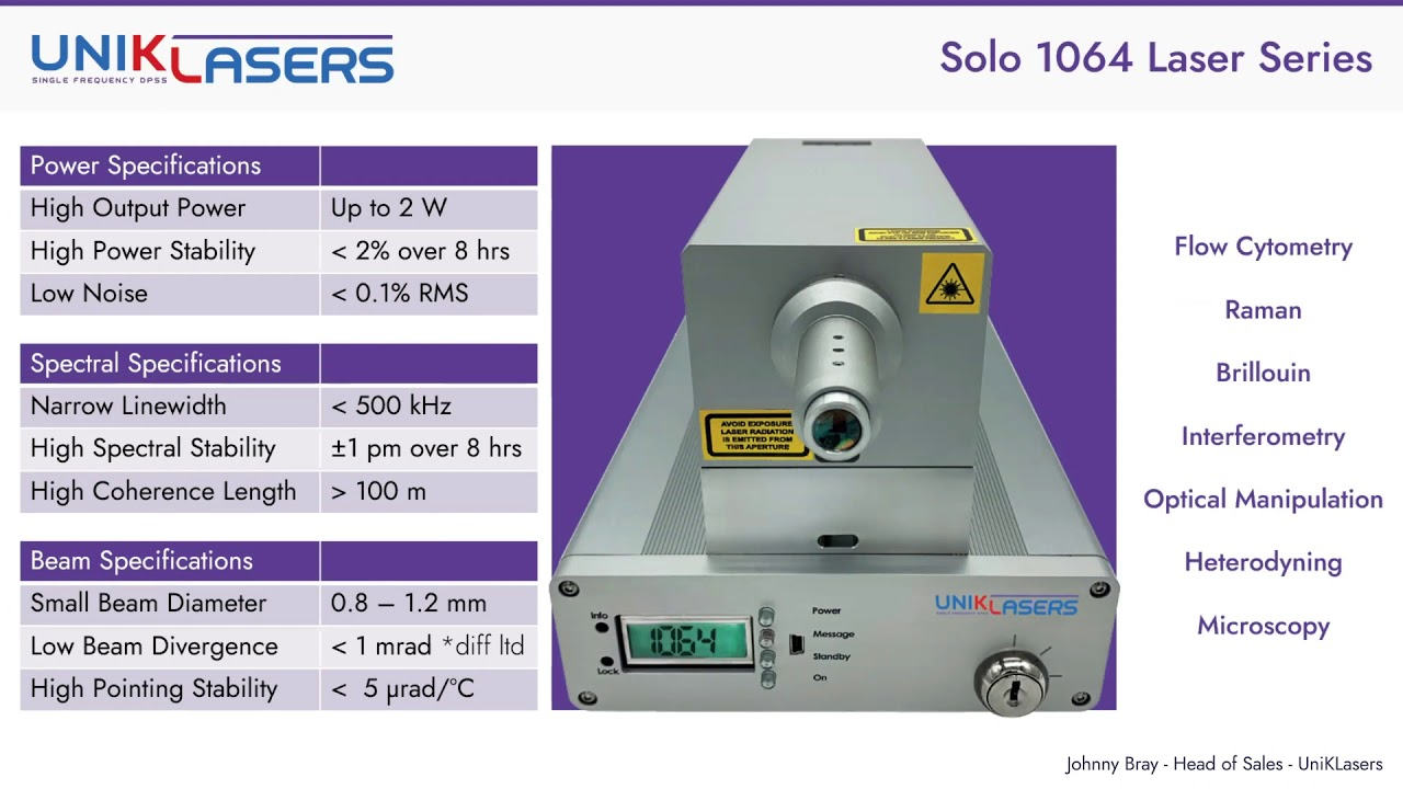 Technical Webinar: Duetto 349 CW DPSS UV Laser