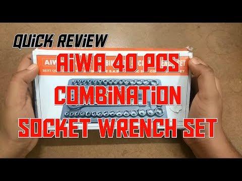 Quick Review : AIWA 40pcs Combination Socket Wrench Set.