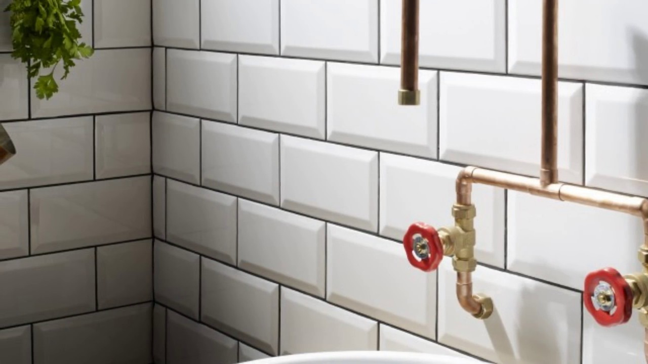 White Metro Tiles for Bathroom Ideas - YouTube