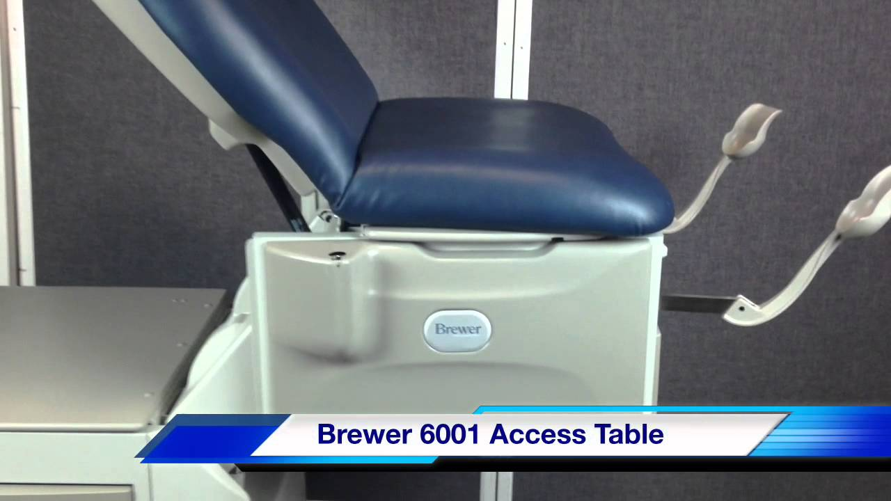 Brewer 6001 Access Hi Lo Power Exam Table Youtube