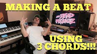 Making a Beat using 3 chords!?! - Akai MPC LIVE / Korg Kronos