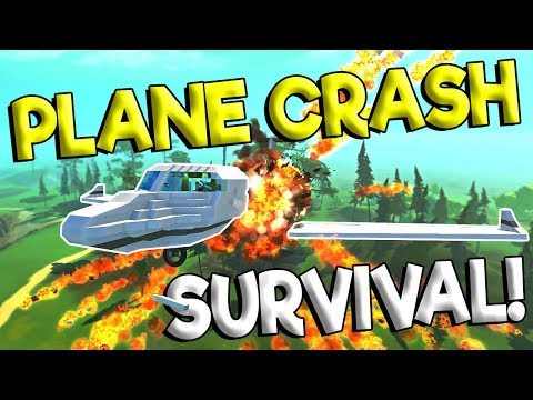 PLANE CRASH SURVIVAL & MORE DESTRUCTION! - Scrap Mechanic Update Gameplay