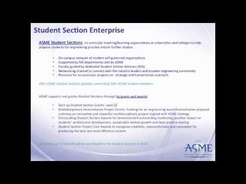2014 ASME Student Programs Introduction