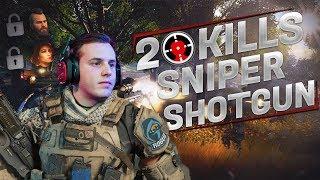 CoD Blackout | SOLOS 20 KILLS Sniper/Shotgun + Ruin & Scarlett UNLOCKED!