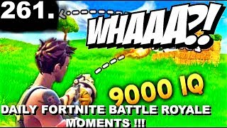 REACTING TO 9000 IQ SHOT.. Fortnite Daily Moments Ep. 261 !!! CRAZINESS !!!