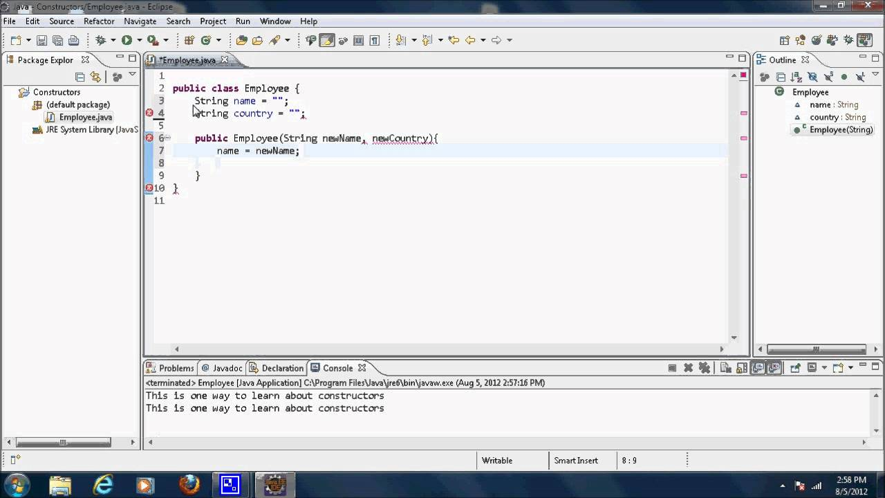 Java video tutorial 24 constructors youtube java video tutorial 24 constructors baditri Image collections