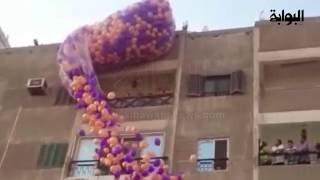 سقوط آلاف البلاليين من سماء المنوفية احتفالاً بالعيد