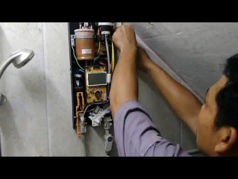 แนวทางการประกอบติดตั้งเครื่องทำน้ำอุ่น PANASONIC รุ่น DH-4KD1 ตอนที่7