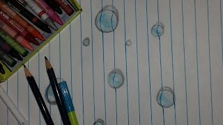 3d Art/How to draw a 3d drop/3d droplet drawing/3d water drop drawing/Drawing a water drop on paper