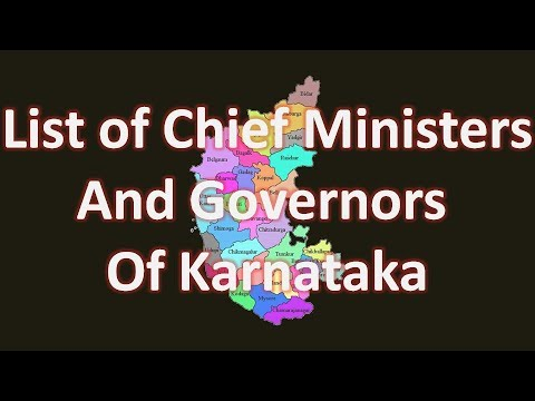 List of Chief Ministers and Governors of Karnataka