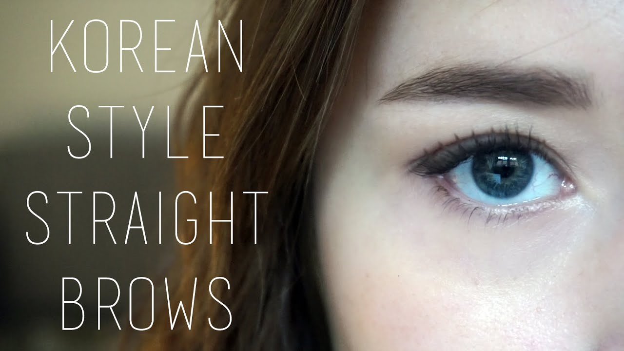 Tutorial Korean Style Straight Brows Western Arched Comparison