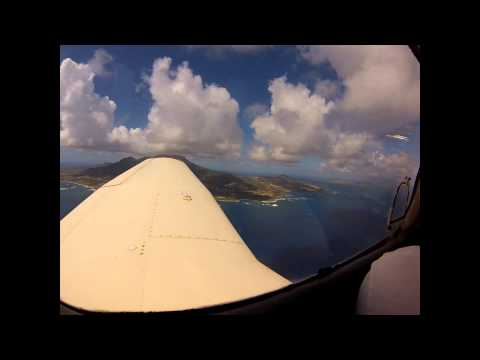 Flying St Kitts and Névis….
