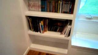 Built In Shelves Window Seat Storage - Evergreen Works - Wyomissing, PA.AVI
