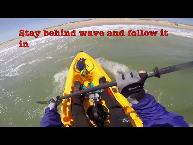 Hobie Mirage Outback Surf Launch at Cape Hatteras