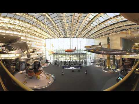Boeing Milestones of Flight Hall at National Air & Space Museum | Washington, DC 360 Video
