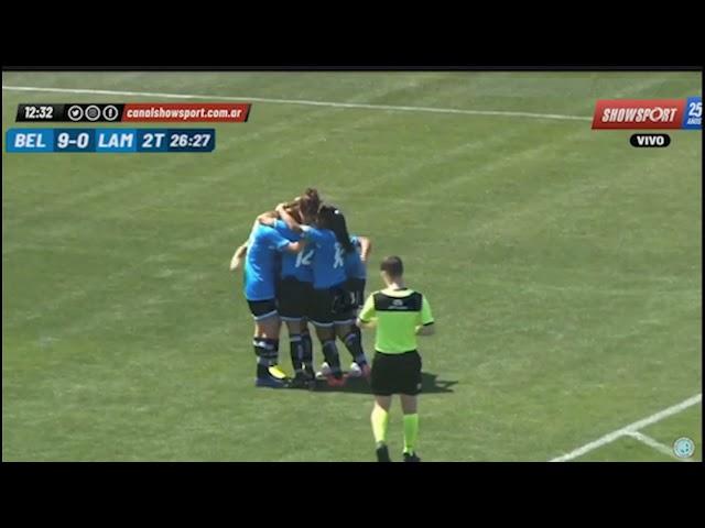 Belgrano 12 - 0 Lamadrid Primera C Femenino de AFA: Los goles del segundo tiempo