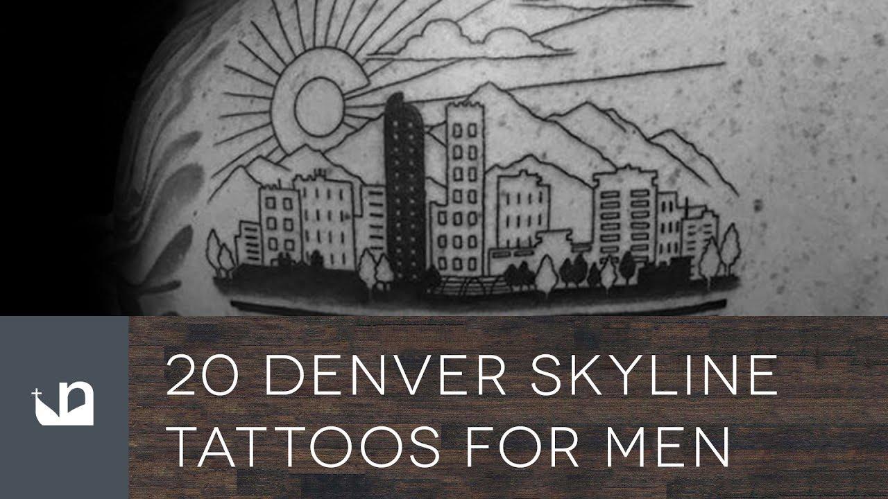 20 Denver Skyline Tattoos For Men Youtube