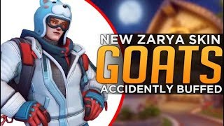 Overwatch: NEW Zarya Skin! - GOATS Comp Accidentally Buffed