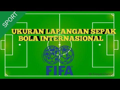Ukuran Lapangan Sepak Bola Internasional Youtube