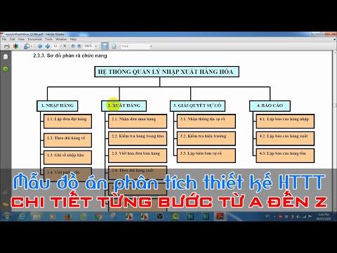Hướng dẫn ôn tập môn Phân tích thiết kế hệ thống thông tin - Buổi 3 (Đồ án cuối kỳ)