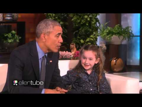 Ellen Show Feb 12 2016 OBAMA Meets MACEY...