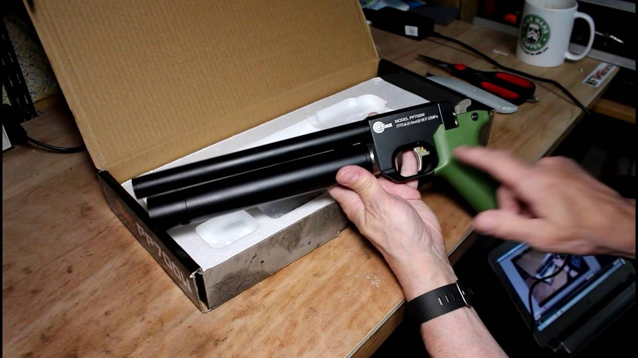 Newtown Naughty Boy unboxes an SMK PP700w air Pistol (SPA PP700 State side)