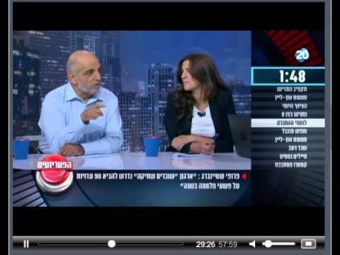 Prof. Gerald Steinberg, Channel 20 Israel TV, Panel Discussion, August 4, 2015 Hebrew