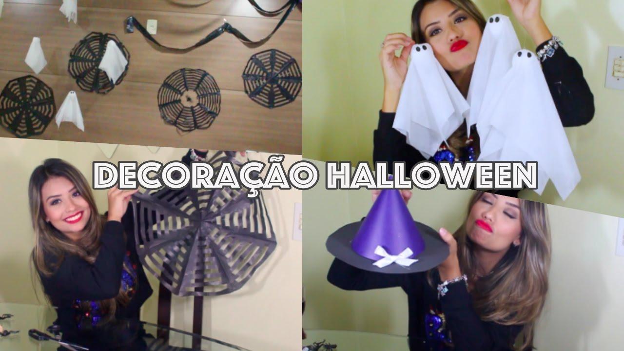 Faça voc u00ea mesmo Decoraç u00e3o de Halloween Simples, Barata e Linda! YouTube -> Decoração Simples De Halloween