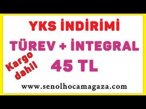 Indirim - Türev + Integral çözümlü 45 Tl Şenol Hoca Matematik