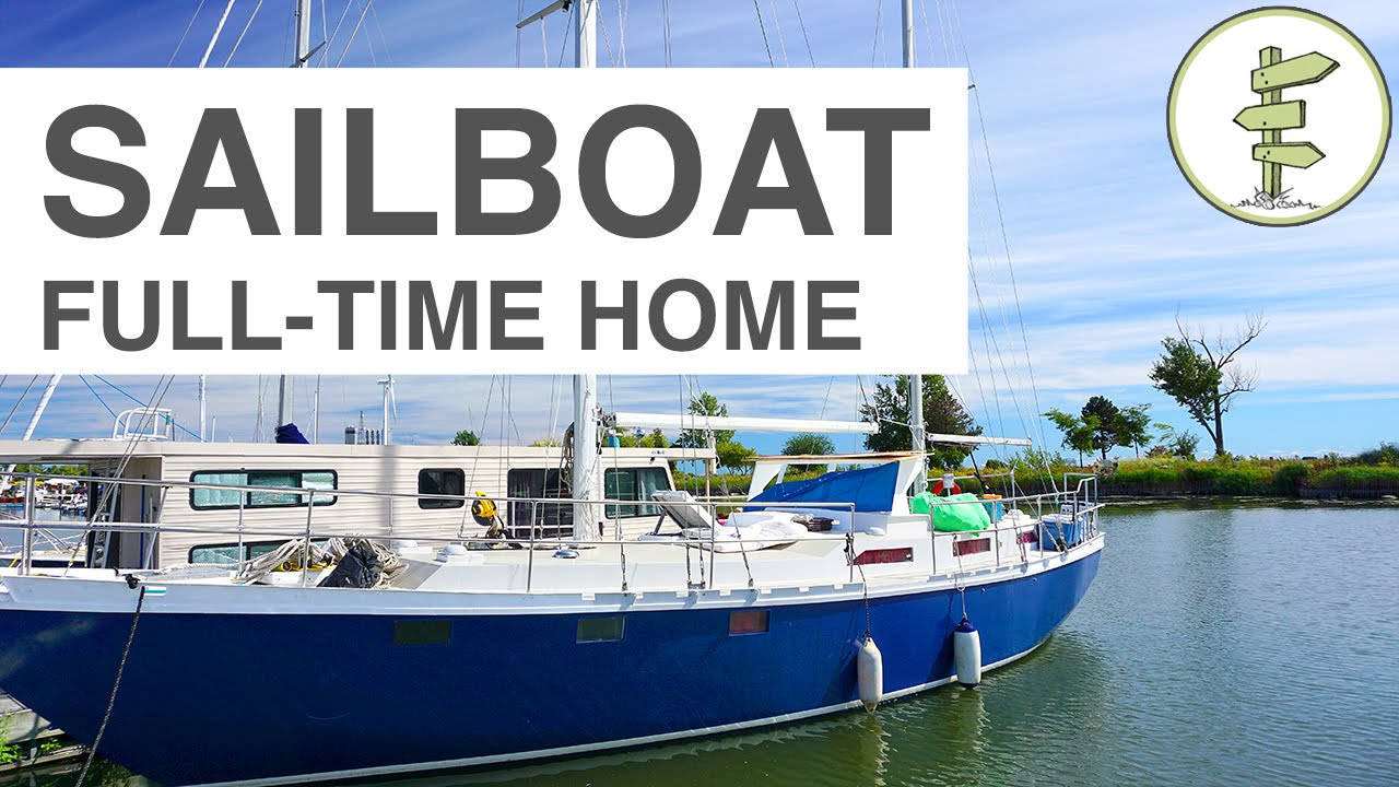 couple moves from house to sailboat year round liveaboard in