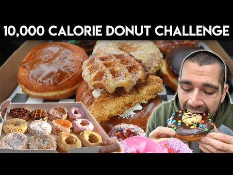 10,000 Calorie Dompierre Donut Challenge Cheat Day (revisited)