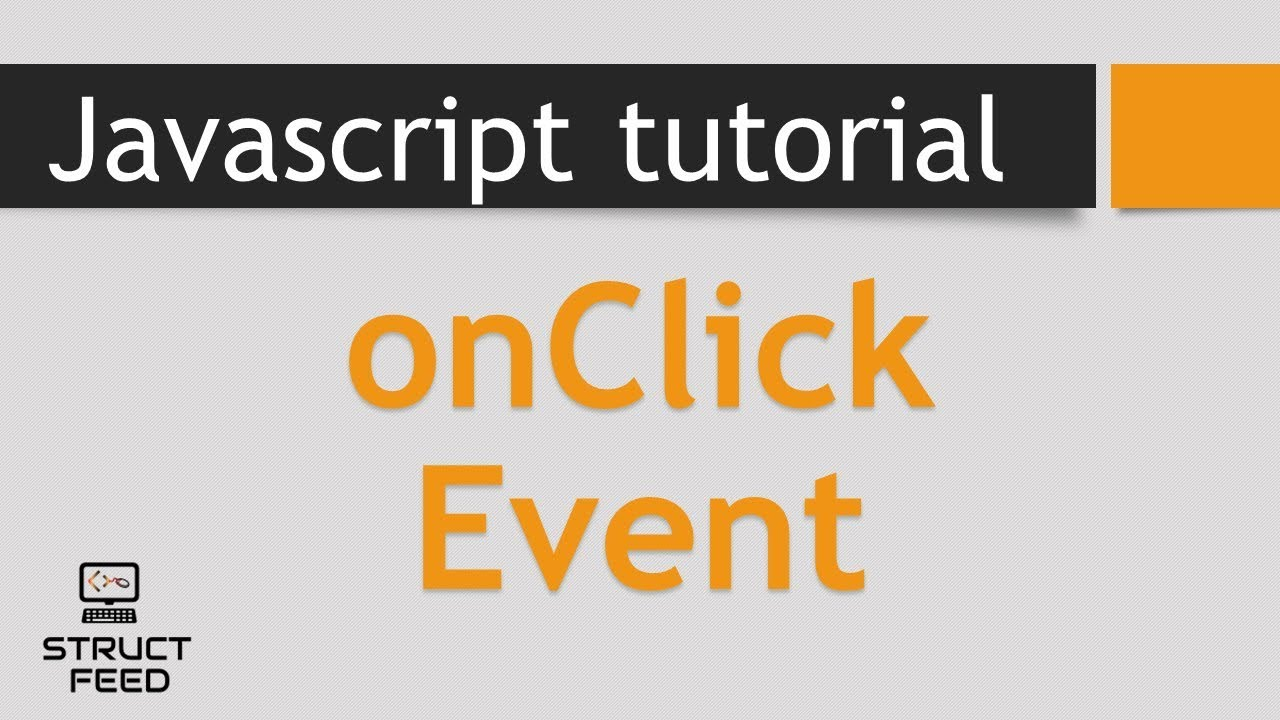 JavaScript onclick Event - YouTube