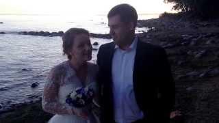 Отзыв Анны и Никиты о свадьбе в шатре на площадке Президент 24.08.13