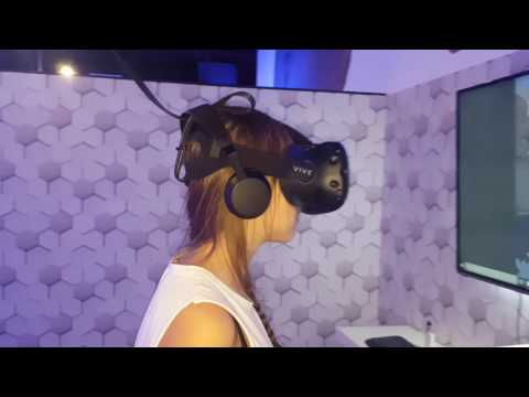 Exceptional experience with HTC vive at Virtual Worlds Dubai