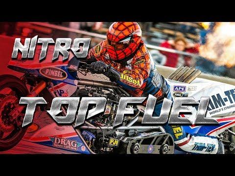 5 Second Nitro Motorcycle Racer Larry 'Spiderman' McBride Wins Top Fuel