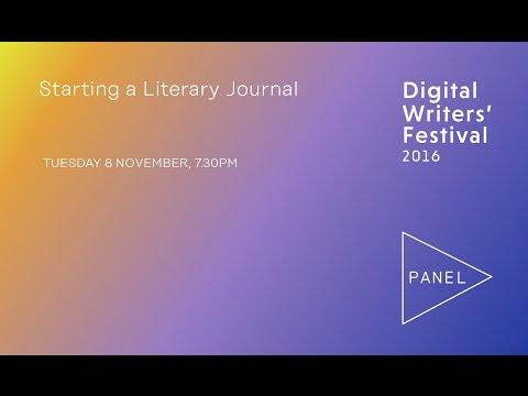 #dwf16: Starting A Literary Journal