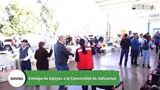 Ni el frío nos detuvo para visitar #Sahuaripa con obras y apoyos para su gente ✅
